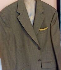 """Stafford""  Khaki Multi Color Mini Screen Sport Coat 48R Wool/Blend"
