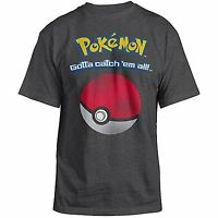 Pokemon Gotta Catch 'Em All! Charcoal Heather Men's T-Shirt New