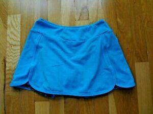 Women's Pheel Turquoise Tennis Built-in Shorts Mesh Skirt Skorts in size XS