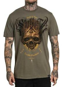 Sullen Clothing OLIVE SKULL Mens tee Art Collective tattoo L XL 2XL 3XL