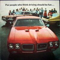 NOS 1970 Pontiac Performance Sales Brochure GTO Judge Ram Air IV Grand Prix 70