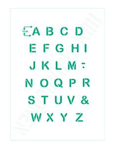 Schablone Nr.2 Buchstaben 1cm hoch Scrapbooking Schrift Schablonen Alphabet ABC