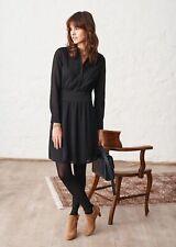 Sézane robe Lily Robe Noir Taille 38 UK 10 NH002 II 06