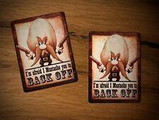 2x cow-boy Autocollant BACK OFF alarme USA v8 Hot Rod Old School Retro Sticker #297