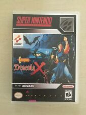 Universal SNES Replacement Case (NO GAME) Castlevania Dracula X - Super Nintendo