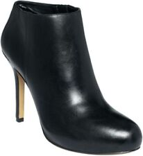 NEW in BOX Nine West BLACK LEATHER FESS UP Ankle Booties Stiletto Boots 12M