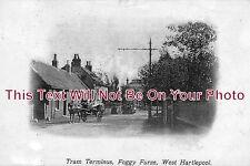 DU 87 - Tram Terminus, Foggy Furze, West Hartlepool, Durham c1904 - 6x4 Photo