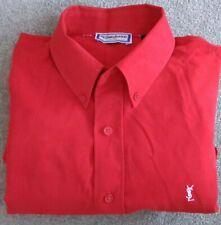 Yves Saint Laurent Shirt size M L/S vintage 80s YSL Red Paris
