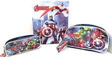 Marvel Comics Avengers Assemble Boy's Binder, Pencil Case & Toilette Handle Bag