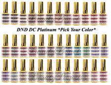 DND DC Platinum Glitter Gel PICK YOUR COLOR .6oz 18ml LED/UV DND Gel Polish