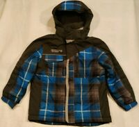 Free Country Boy's Medium 7-8 Blue and Black Fleece Lined Snow Ski Jacket