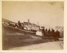France, Grasse, vue panoramique de la cité  Vintage albumen print,  Tirage alb