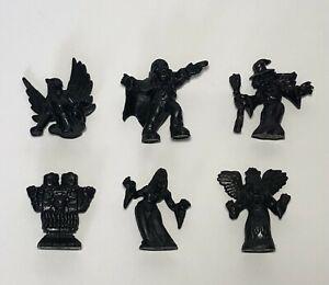 Monster In My Pocket Lot of (6) Black CUSTOM Matchbox Series 1 Bootleg Figures