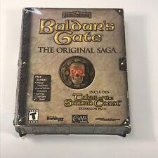Baldur's Gate The Original Saga (PC, 2001) with Lithograph Soundtrack Big Box