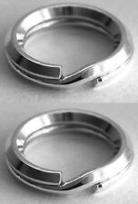 2 SECURE STERLING SILVER BEVELLED SPLIT RINGS, 6 MM, SAFER THAN JUMP RINGS