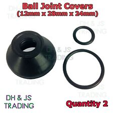 2x Ball Joint Covers 12/28/24 Dust Boot Cover Track Rod End Car Van Auto (Pair)