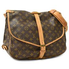 Подлинный Louis Vuitton монограмма Сомюр 35 M42254 наплечная сумка крест тело AH1142