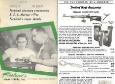 Freeland, Al 1959 Scope Stands, BSA and Accessories
