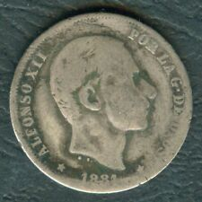 1881 Spanish Philippines 20 Centimos ALFONSO XII Filipinas SILVER Coin #AA5