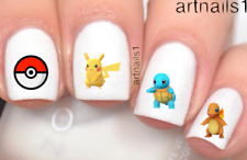 Pokemon Go Anime Nail Art Pikachu Catoon Water Decals Stickers Cosplay Polish