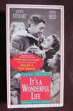 Frank Capra'S~It'S A Wonderful Life~Vhs, 1993~Uncut~+ Exclusive Music Video~New