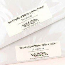Bockingford Artists WaterColour Paper A3 Pack 20 Sheets NOT 300g Curtisward Pack