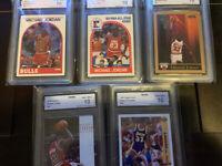 🔥INVEST🔥Michael Jordan 🐐 All Graded 10 Lot of 5 cards! Boss Sports Grading🔥