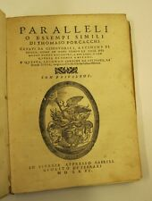 PORCACCHI Thomaso, Paralleli o esempi, filosofia della storia
