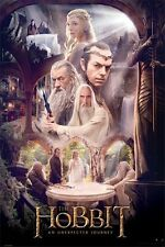 THE HOBBIT Movie Poster - Cast Rivendell Full Size Print ~ The White Council