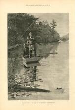 Black Bass Fishing in the Lakes of the  Adirondacks, State of New York  -  1884