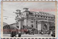 WW2 Anderson Bridge Fullerton Hotel Rickshaw Truck Vintage Singapore Photo 17734