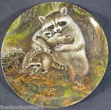 A Protective Embrace Collector Plate Signs Of Love Yin-Rei Hicks Raccoon Kit