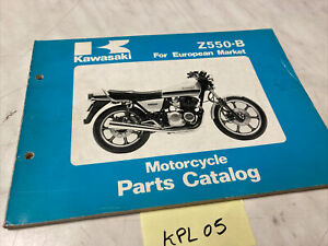 Kawasaki Z550 B2 B3 Z550-B catalogue pièces détachées spare parts list Z KZ 550