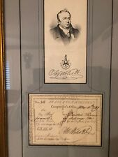 Vintage 1789 Signed  Oliver Wolcott Jr. Who Was Second Secretary Of Treasure USA