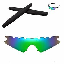 Polarized Emerald Replacement Vented+ Black Earsocks For Oakley M Frame Sweep