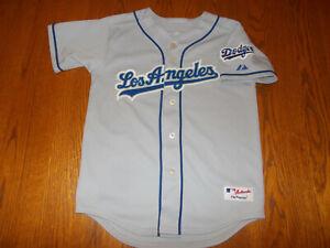 MAJESTIC MLB LOS ANGELES DODGERS SHORT SLEEVE BASEBALL JERSEY BOYS MEDIUM EXCELL