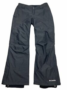 Columbia Omni-Tech Bugaboo Women's Ski Snow Pants Heathered Black Nylon Large L