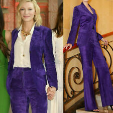 Purple Suits Velvet Women Ladies Wedding Tuxedos Party Dinner Prom Office Work