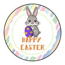 Happy Easter Bunny Sticker Party Sweet Cone Gift Bag Egg Hunt Chocolate Coin