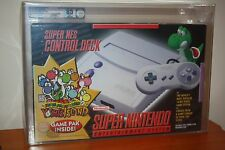 Super Nintendo SNES Console Bundle w/Yoshi's Island - NEW UNUSED MINT VGA Q85!