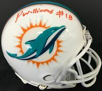 Preston Williams Autographed Miami Dolphins Mini Helmet (JSA)