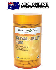 Healthy Care Royal Jelly 1000mg 365 capsules Proteins Carbohydrates Vitamins