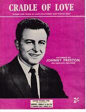 Cradle Of Love - Johnny Preston - 1960 Sheet Music