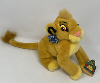 "Applause Disney LION KING BABY SIMBA Bean Bag Plush Stuffed Toy Vintage 8"" NOS"