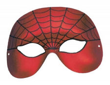 FANCY DRESS EYE FACE MASK SPIDERMAN DESIGN HALLOWEEN PARTY COSTUME ACCESSORY WEB
