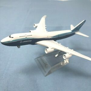 "2 EACH - New Diecast Boeing 747 model airplanes passenger jet approx 6.25"" long"