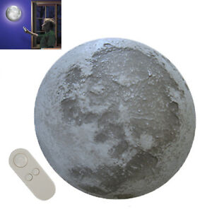 Fantastic LED Healing Moon Lamp Wall Night Light Remote Control Bedroom Decor UK