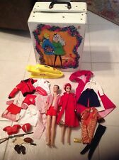 Vintage Barbie & Ken doll with Double Case and extra clothes
