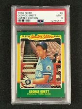 1986 Fleer Limited Edition  George Brett  PSA 9  Kansas City Royals
