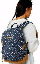 Volcom Vacations Canvas Backpack Sea Navy Blue Book Travel Shoulder Bag